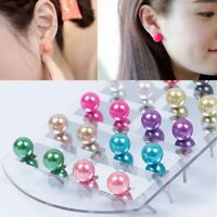 12 Pairs/Set Women Fashion Party beauty Pearl Round Ear Stud Earring Set Gift