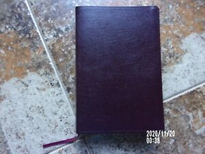 The AMPLIFIED HOLY BIBLE-LARGE Print-Burgundy BONDED LEATHER w/tabs