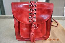 AUTHENTIC PATRICIA NASH JOVANNA RED LEATHER BACKPACK - BARGAIN PRICE