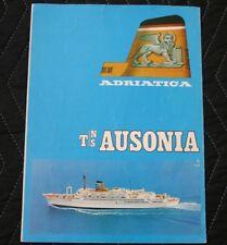 ADRIATICA LINE TS AUSONIA Deck Plan Brochure 1974