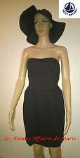 PETIT BATEAU - LIQUIDATION - Robe bustier noire M - Neuve avec étiquette