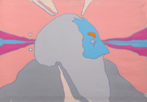 Peter Max, Galactic Man, Acrylic on canvas, signed l.r