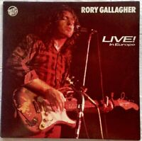 "RORY GALLAGHER⚠️Mint⚠️ -12""-1972VinylLP-Live in Europe/Chrysalis 1257"