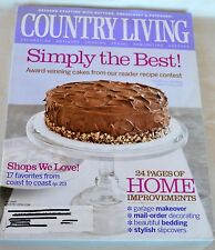 Country Living Magazine May 2005 Simply the Best Award-Winning Cakes -- Recipes