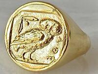 Ring die Eule von Athen Siegel Münze 20 mm