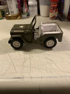 "Vintage Tonka Army Jeep 6 1/8"" X 3 1/2"""