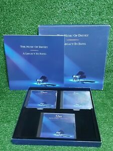 The Music of Disney:A Legacy in Song 1992 Boxed Set 3 CD & Book - Ex Condition