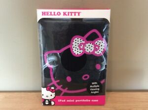Hello Kitty iPad Mini Portfolio Case Cover Thin, Lightweight 44309P-BLK