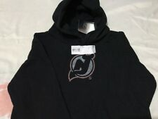 Youth New Jersey Devils Static Logo Black Pullover Hoodie -Youth Medium,new