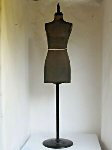 Antique Ladies Dress Form Iron Base Standard Specialty Co. Small Waist