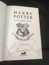 Harry Potter And The Deadly Hallows JK Rowliing Signed * Charity Shop Find *