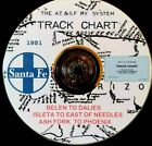 Atchison Topeka& Santa Fe 1951 Belen to Dalies Track Chart PDF Pages on DVD