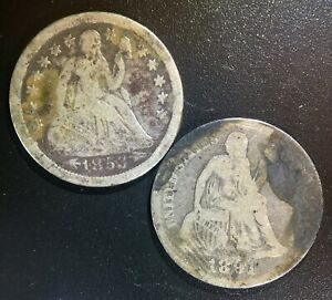 1853 (With Arrows) & 1891 Seated Liberty Dimes ——> LOWBALL COLLECTION CANDIDATES