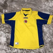 Official LOTTO 2003-2004 Colombia National DTP Yellow Home FIFA Soccer Jersey L