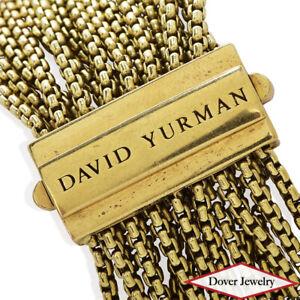 DAVID YURMAN 18K Gold Multi Link Wide Bracelet 67.0 Grams Box $13880.00 NR
