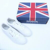 REEBOK CLASSIC WHITE LEATHER SNEAKERS SIZE 9-10 MSRP $75