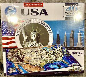 NEW Sealed The Country of USA History Over Time Puzzle, 4D Cityscape Jigsaw