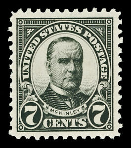 Scott 559 1923 7c McKinley Perforated 11 Flat Plate Issue Mint VF LH Cat $7.25