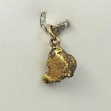 Pure Genuine 22-24K Gold Alaskan Nugget 14K Bail Charm Pendant 1.9gr
