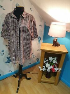 Mens Burgundy Check Short Sleeve Shirt By Mountain Warehouse, Size 2xl