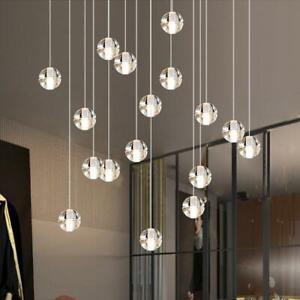 Glass Kitchen Pendant Light Bar Chandelier Light Modern Crystal Ceiling Lights