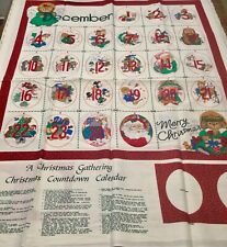 A Christmas Gathering Countdown Calendar Cotton Fabric Panel by Hallmark Crafts