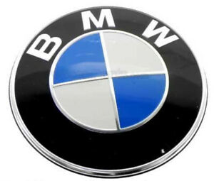 2 GENUINE BMW Hood and Trunk Emblem Roundel OEM # 51147057794 82 mm 3.23""