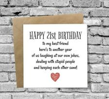 DINOSAURCARDS GREETINGS CARD HAPPY 21st BIRTHDAY FUNNY HUMOUR COMEDY BEST FRIEND