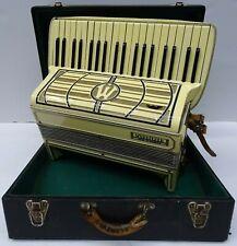 Antique Wurlitzer USA 39 Key 120 Button Large Piano Accordion w/ Case & Straps