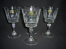 """SET OF 4 LUMINARC LARGE WINE / WATER GOBLET GLASSES """"VICTORIA"""" PATTERN -25cl."""