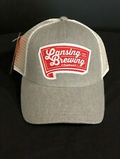 Lansing Brewing Company Gray and White Trucker Hat