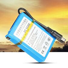Batería Li-Ion Recargable Battery Azul DC-12300 12V DC 3000mAh Súper Para CCTV