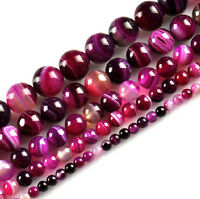 Wholesale Lots Natural Rose Striped Agate Gemstone Loose Spacer Beads 4/6/8/10MM