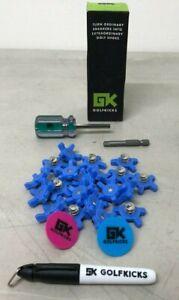 GOLFKICKS Golf Traction Kit for Sneakers DIY Golf Spikes BLUE GOLF KICKS NEW!!