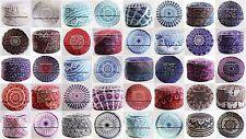 "30 PC Wholesale Lot Indian Pouf Cover Mandala Cotton Ottoman Footstool Decor 24"""
