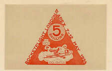 EXHIBITION LABEL : 1934 Airpost Exhibition 5/- orange  'ZUCKER' label mint