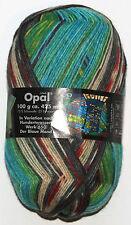 Opal Hundertwasser 4fach der blaue Mond Sockenwolle 100 G