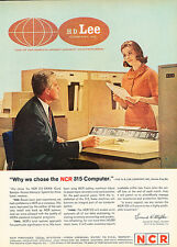 1962 NCR Computer Lee Jeans Co.  -  Original Advertisement Print Ad J146