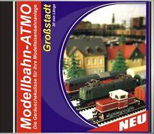 CD Modellbahn Atmo Geräusche Modelleisenbahn Bahnhof Großstadt