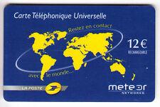 FRANCE  TELECARTE / PHONECARD  PREPAYEE .. 12€ METEOR LA POSTE PTT MAGNETIQUE 07