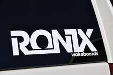 2011 Ronix White Logo Sticker You Get 2 Wakeboard Decal With Ronix R