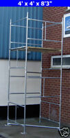 "DIY Scaffold Tower 4.5m (4' x 4 'x 14'9"" WH) Galvanised Steel"