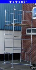 "DIY Scaffold Tower 4.5m (4' x 4 'x 14'9"" WH) Galvanised Steel"