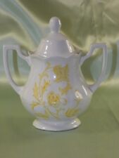 "Made In England Royal Staffordshire ""Windsong"" Two-Handled Covered Sugar Dish"