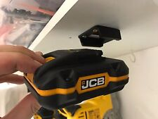 2x Black JCB 20v BATTERY Mount Holder for Shelf Rack Stand Holder Slots Drill