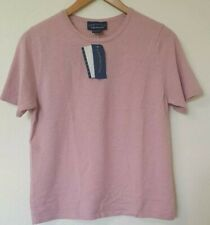 BNWT Charter Club 2-ply Cashmere Dusky Pink Jumper Top Size M