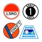 Space Uniform Stickers 1999