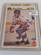 1991-92 Upper Deck #21 Teemu Selanne CC RC : Canada Cup FINLAND