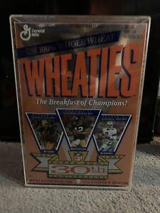 1996 Wheaties Super Bowl 30th Anniversary Cereal Box Bradshaw Aikman Starr Full