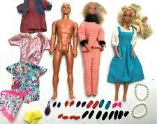 Vintage 1960's Barbie & Ken Doll Lot, Clothes, Accessories, Shoes Pearl Necklace
